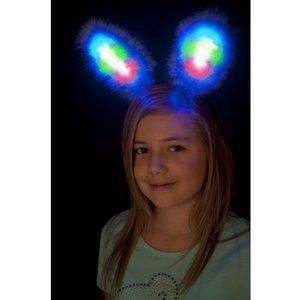 Kaninöron med lampor - lila