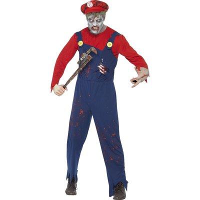 Rörmokar-zombie maskeraddräkt