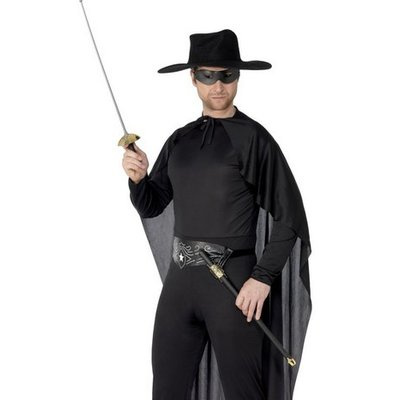 Zorro svärd och ögon-mask