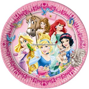 Disney prinsessa & djur - papperstallrikar 23cm - 8 st