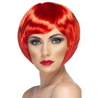Kort page röd peruk