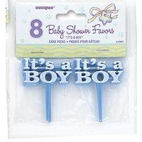 It's a Boy tårtdekorationer - 8 st