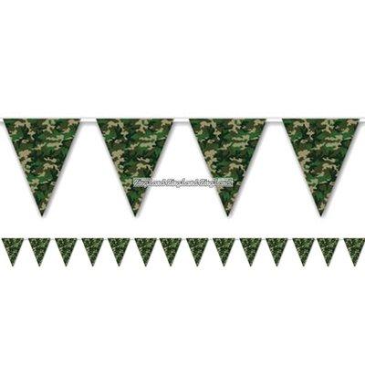 Kamouflage flagga banderoll