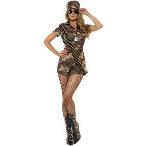 Armé tjej maskeraddräkt - Kamouflage
