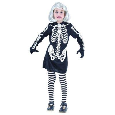 Skelettklänning - maskeraddräkt barn