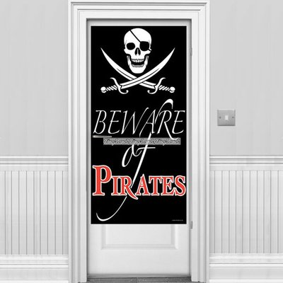 "\""Beware of Pirates\\\"" dörröverdrag"