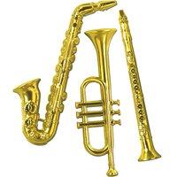 Väggdekoration musikinstrument i plast - 3 st