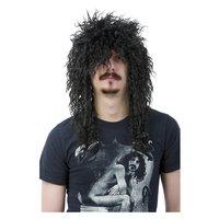 Svart rock peruk