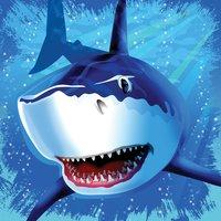 Servetter Blå haj 3-lags - 16 st