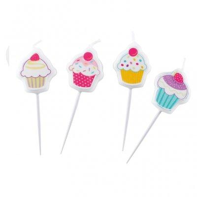 Cupcake ljus - små figur ljus