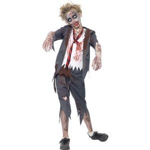 Zombie skolpojke maskeraddräkt
