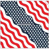Amerikanska flaggan bandana/scarf