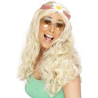 Häftig hippieperuk, blond