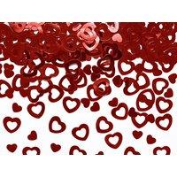 Konfettihjärtan - Röd metallic