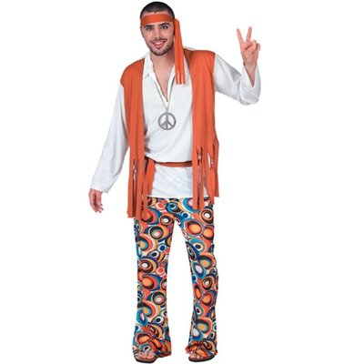 Hippie - maskeraddräkt budget man
