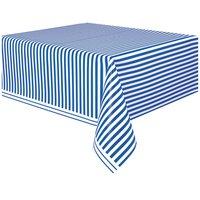 Randig bordsduk - Blå & vit