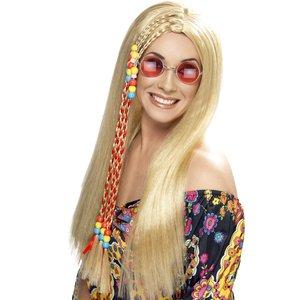 Hippy partyperuk blond
