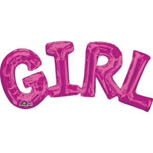 Folieballong - GIRL Rosa