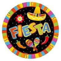 Fiesta Party stora papperstallrikar 27cm - 8 st