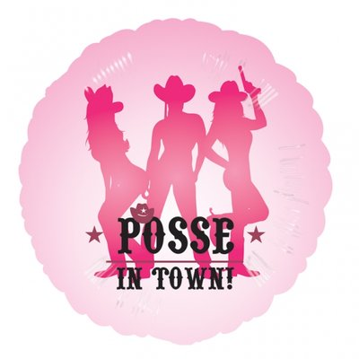 "Posse in town!\\\"" rosa folieballong - 46 cm"