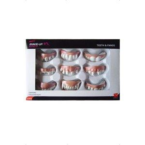 Set: tänder och huggtänder, vita