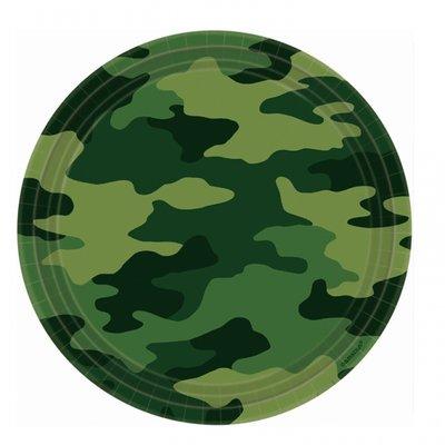 Kamouflage Papperstallrikar 23cm - 8 st
