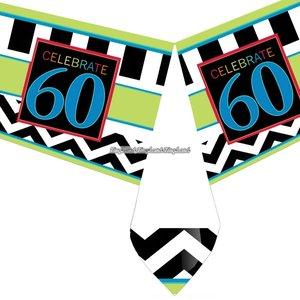 60-års födelsedag bordsduk i plast - 137cm x 259cm