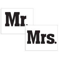 Klistermärken till skorna - Mr./Mrs