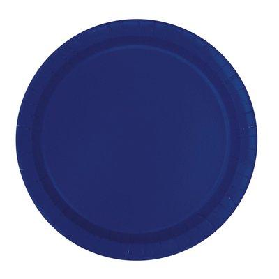 Mörkblå tallrikar - 23 cm