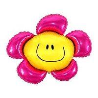Folieballong - Färgglad Blomma Rosa