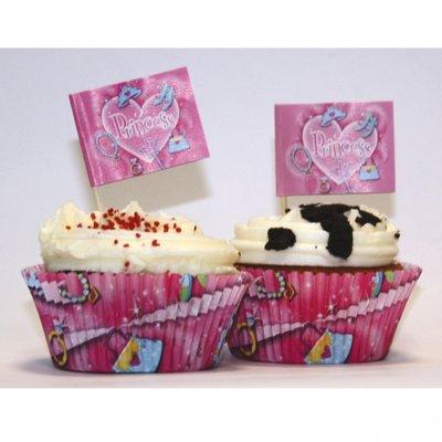 Prinsess fest muffins kit - 48 delar - 48 st