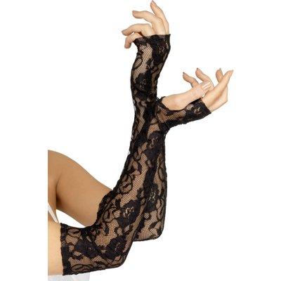 Handskar Gothic Lace - svarta