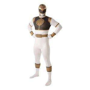 White Ranger second skin maskeraddräkt - Vuxen