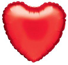 Folieballong - Hjärta Rött 45 cm