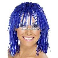 Glitterperuk - blå