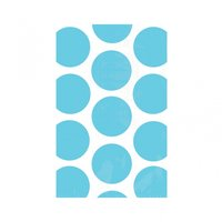 Godispåse med ljusblå prickar - 10 st