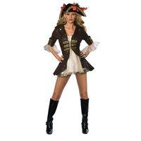 Piratmaskeraddräkt kvinna - delux