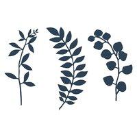 Dekorationsgren - Marinblå 9 st
