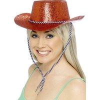 Cowboyhatt röd glitter
