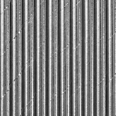 Papperssugrör - Silver metallic 19,5 cm 10 st