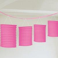Girlang med rosa lyktor - 3.65m