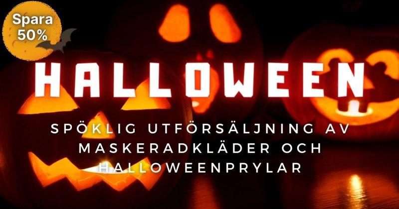 Dags för Halloween! Upp till 50% på maskeraddräkter och prylar