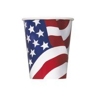 Pappersmuggar med USA:s flagga - 27 cl 8 st
