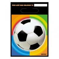 Partypåsar i plast fotboll - 8 st