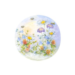 Tallrikar blomster - 8 st