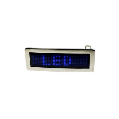 Scrollande bältspänne med LEDs - blå
