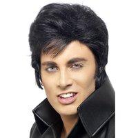 Elvis peruk - Svart