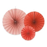 Pappersfjädrar - Flera olika färger 3 st