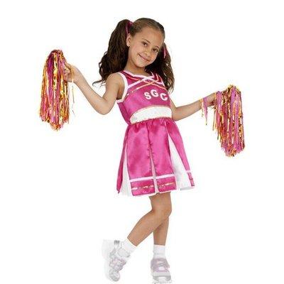 Cheerleader maskeraddräkt för barn
