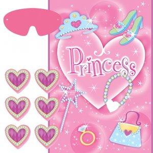 Prinsessparty - fäst hjärtat-spel